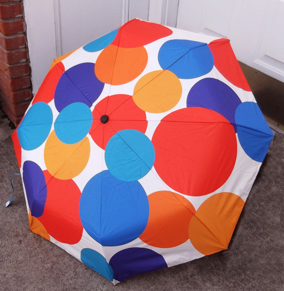 Polka Dot Explosion Compact Umbrella - Auto Open & Close sale!