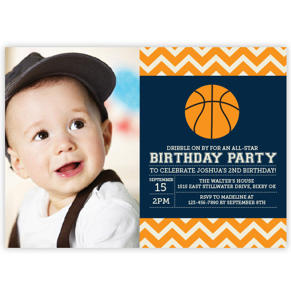 Basketball Birthday Invitation