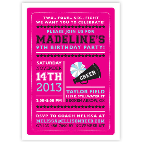 Girl Birthday Invitations Ellison Reed