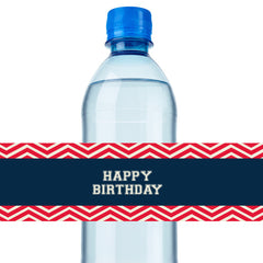 Baseball Water Bottle Label - Digital File - Print Yourself - Printable Party Design
