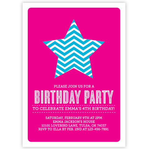 Chevron Star Invitation