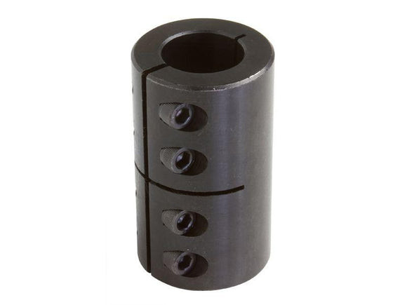 GMSCC-35-35-KW 35mm ID Black Oxide Metric One Piece Clamping Shaft Coupling w/ Keyway - pmisupplies