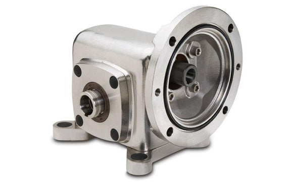 SSHF713-25K-B5-HS1-P10 Stainless Steel Hollow Shaft Right Angle Worm Gear Speed Reducer - pmisupplies
