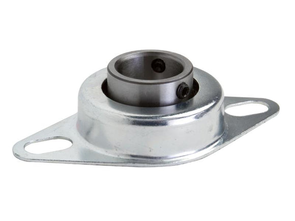 F2PS-BL-100 Light Duty Stamped Steel 2 Bolt Flange Mounted Bearing - pmisupplies