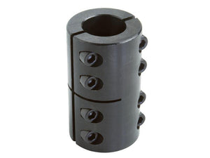 "G2SCC-100-100 1""IDx1""ID Black Oxide Two-Piece Clamping Shaft Coupling - pmisupplies"