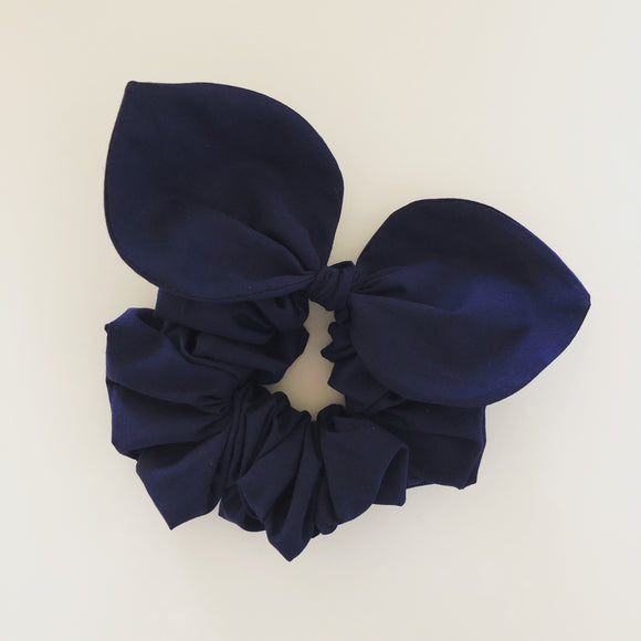 Bow Scrunchie - Navy