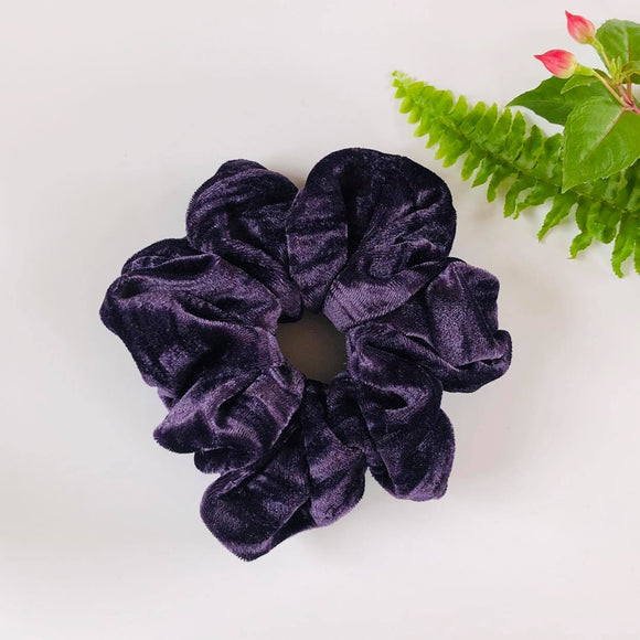 Velvet Scrunchie - Mulberry