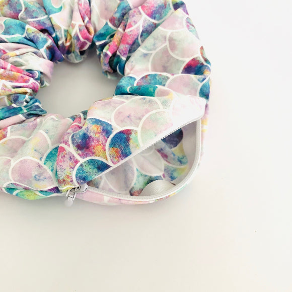 Secret Stash Scrunchie - Mermaid
