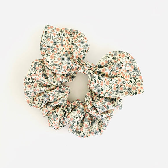 Bow Scrunchie - Cottage Garden