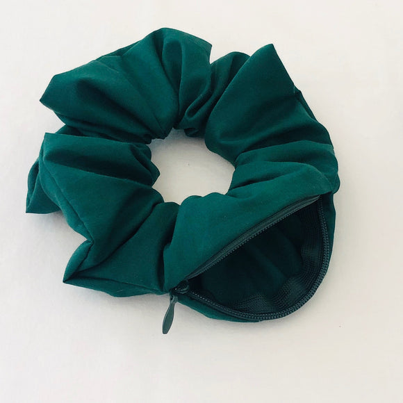 Secret Stash Scrunchie - Forest Green