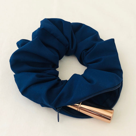 Secret Stash Scrunchie - Navy