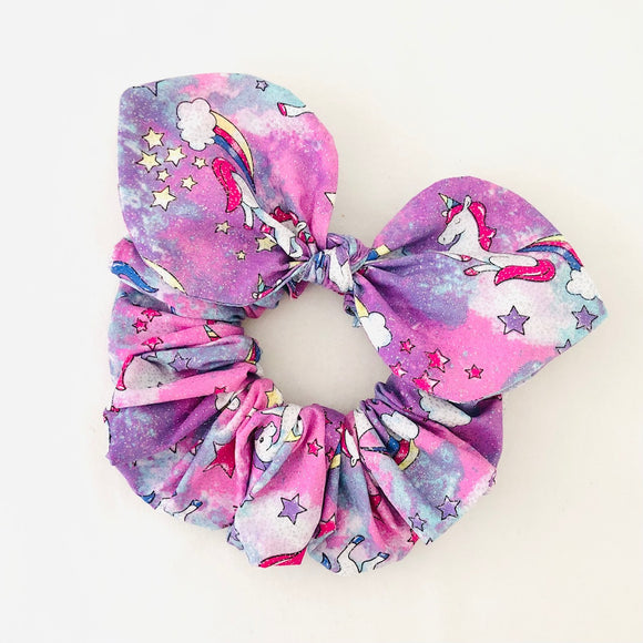 Bow Scrunchie - Unicorn