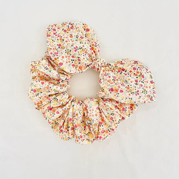 Bow Scrunchie - Yellow Poppy