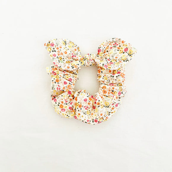 MINI Bow Scrunchie - Poppy Yellow