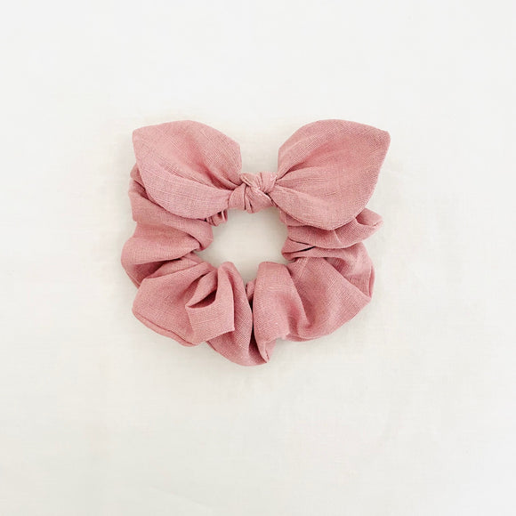 MINI Bow Scrunchie - Linen Soft Pink