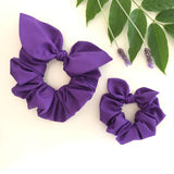 Mummy & Me Bow Scrunchies - Amethyst