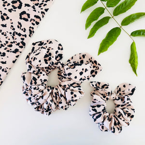 Mummy & Me Bow Scrunchies - Leopard