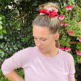 Duotone Red & Pink Scrunchie