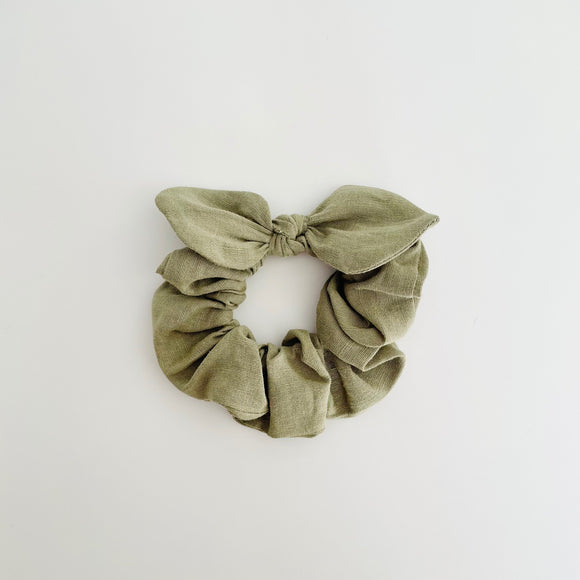 MINI Bow Scrunchie - Linen Sage