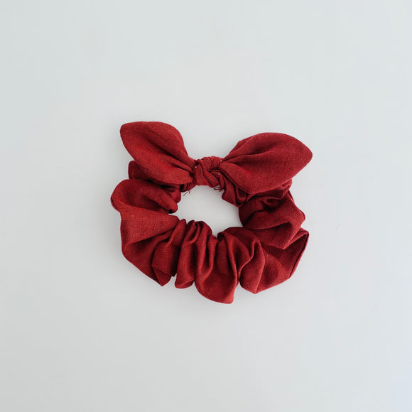 MINI Bow Scrunchie - Linen Rust