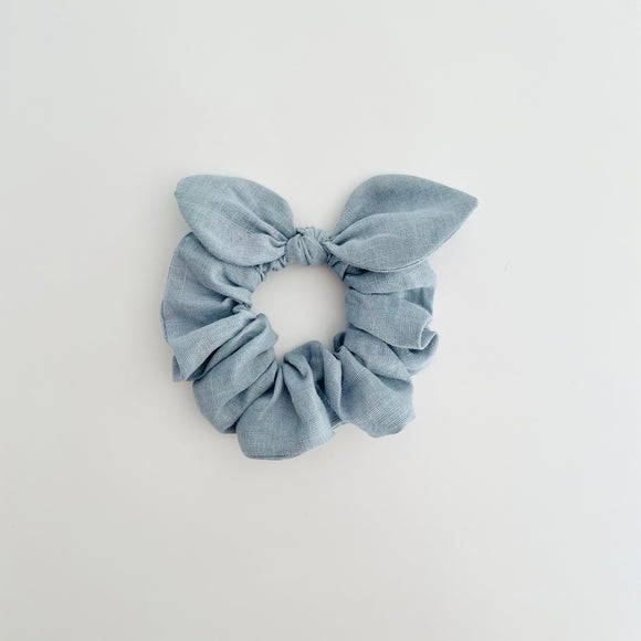 MINI Bow Scrunchie - Linen Powder Blue