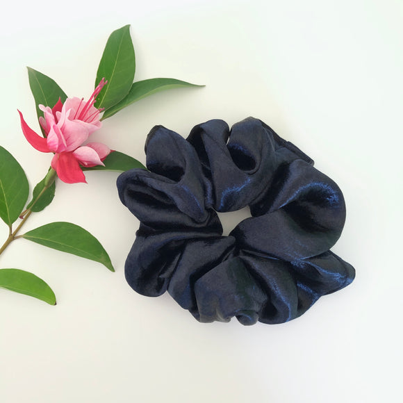 Satin Scrunchie - Navy