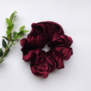 Velvet Scrunchie - Black Cherry
