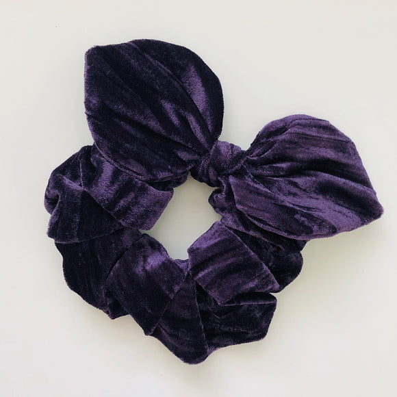 Bow Scrunchie - Mulberry Velvet