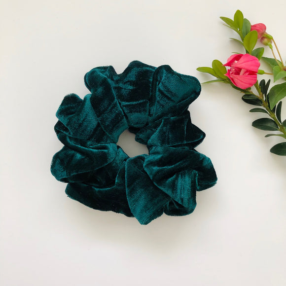 Velvet Scrunchie - Emerald