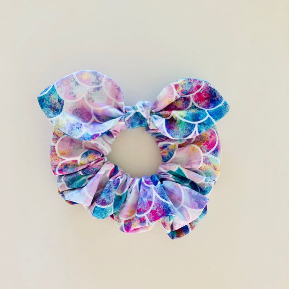 MINI Bow Scrunchie - Mermaid