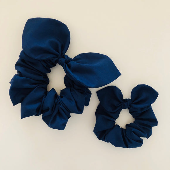 Mummy & Me Bow Scrunchies - Navy