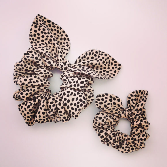 Mummy & Me Bow Scrunchies - Pebble Blush