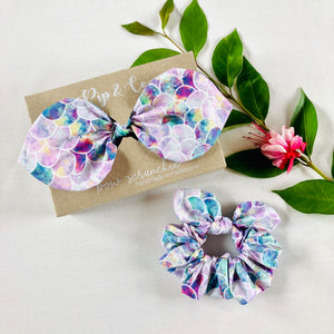 Mummy & Me Bow Scrunchies - Mermaid