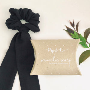 Scrunchie Scarf - Black