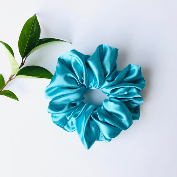 Satin Scrunchie - Ocean Blue
