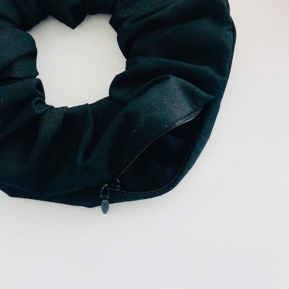 Secret Stash Scrunchie - Jet Black