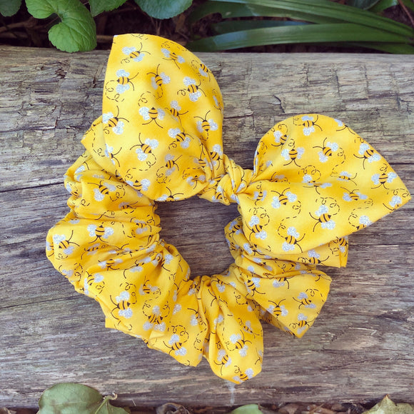 Bow Scrunchie - Bumble Bee