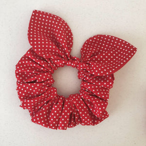Bow Scrunchie - Red Polka Dot