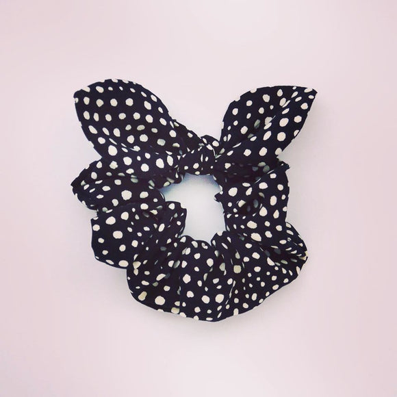 MINI Bow Scrunchie - Pebble Noir