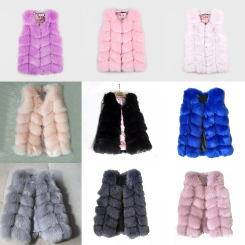 Violet Fur Gilet - Ruby & Ralph Boutique