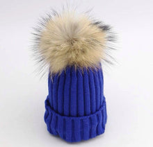 Load image into Gallery viewer, Children's Fur Pom Hats - Ruby & Ralph Boutique