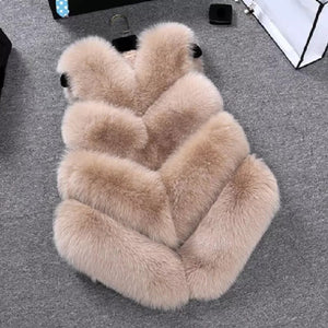 Mummy & Me Faux Fur Beige Gilet - Ruby & Ralph Boutique