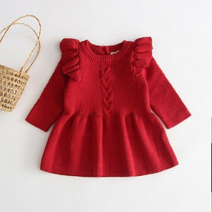 Red knit dress 12m - Ruby & Ralph Boutique