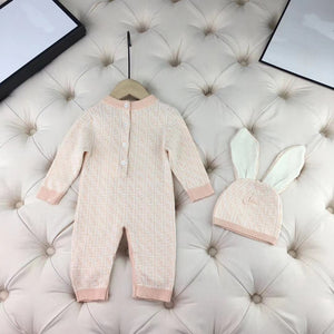FF ROMPER & HAT RTP 12-18M - Ruby & Ralph Boutique