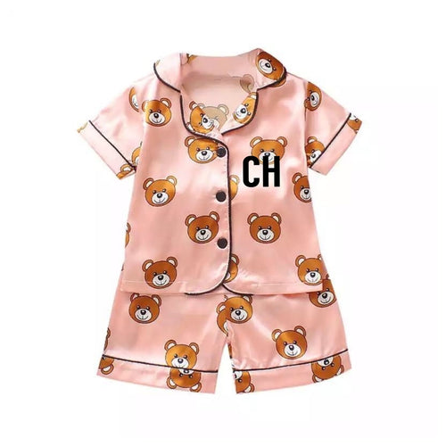 Personalised Short Teddy Bear Pyjamas - Ruby & Ralph Boutique