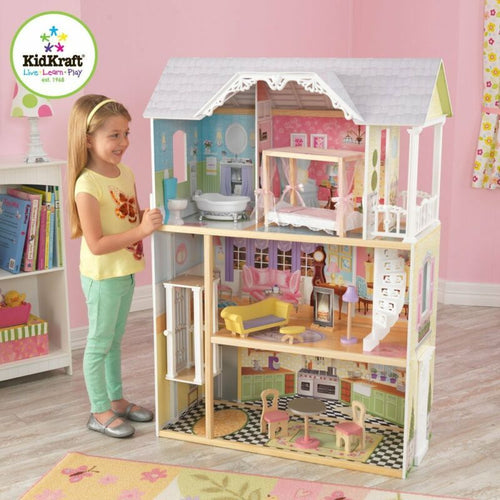 Kidkraft Kaylee Dollhouse - Girls Wooden Doll House Fits Barbie Dolls - Ruby & Ralph Boutique