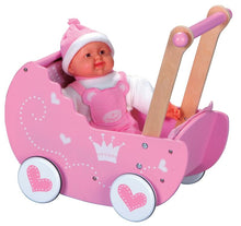 Load image into Gallery viewer, Lelin Wooden Princess Doll Pram Buggy Pushchair Children Girls Pretend Play - Ruby & Ralph Boutique