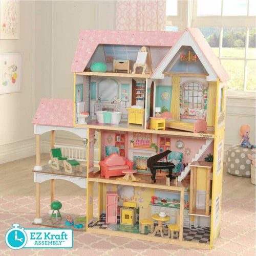 Kidkraft Lola Mansion Dollhouse with EZ Kraft Assembly™ | Includes Accessories - Ruby & Ralph Boutique