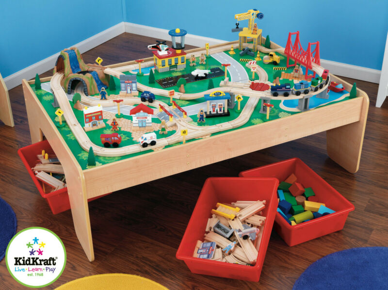 Kidkraft Waterfall Mountain Train set and Table | Wooden Train Set | Train Table - Ruby & Ralph Boutique