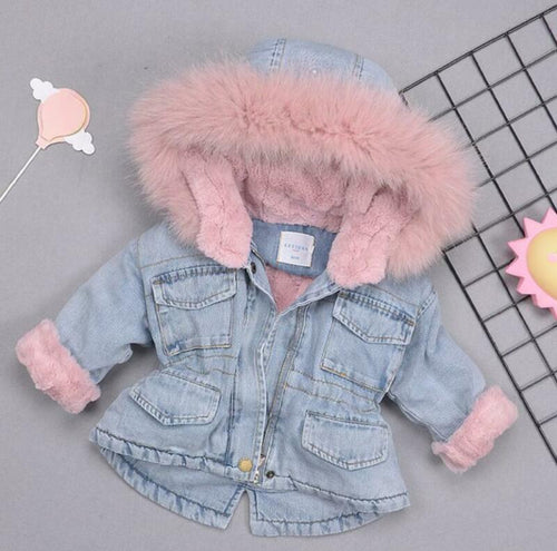 Denim Fur Jacket - Ruby & Ralph Boutique